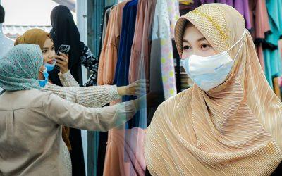 บรรยากาศจับจ่ายเสื้อผ้า จ.ยะลา คึกคัก ต้อนรับเทศกาลฮารีรายออีฎิ้ลฟิตริของพี่น้องมุสลิม